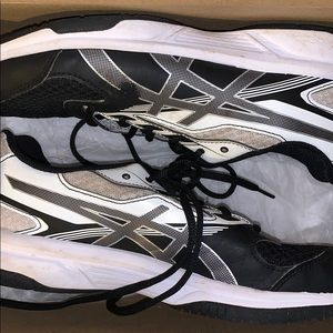 Volleyball shoes - Asics Black/Silver/White